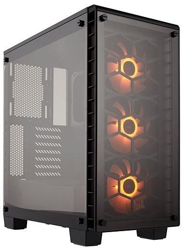 Corsair Cc9011101Ww 460X Rgb Crystal Series Renkli Bilgisayar Kasası Siyah